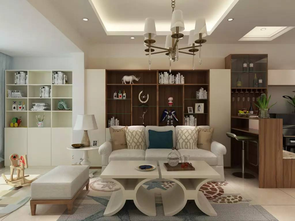 【家装】客厅=沙发+茶几+电视柜?out了,看看人家的客厅吧 客厅,组合,电视柜,会客,茶几 第9张图片