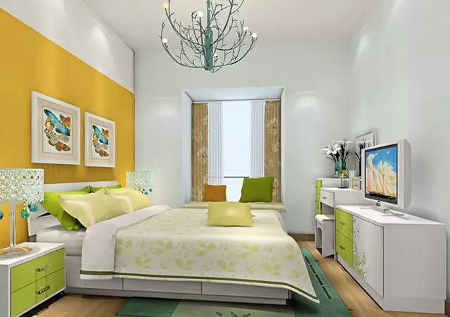 这样装修卧室,比5星级酒店还舒适 卧室,挂画,床头柜,高度,屏幕 第6张图片