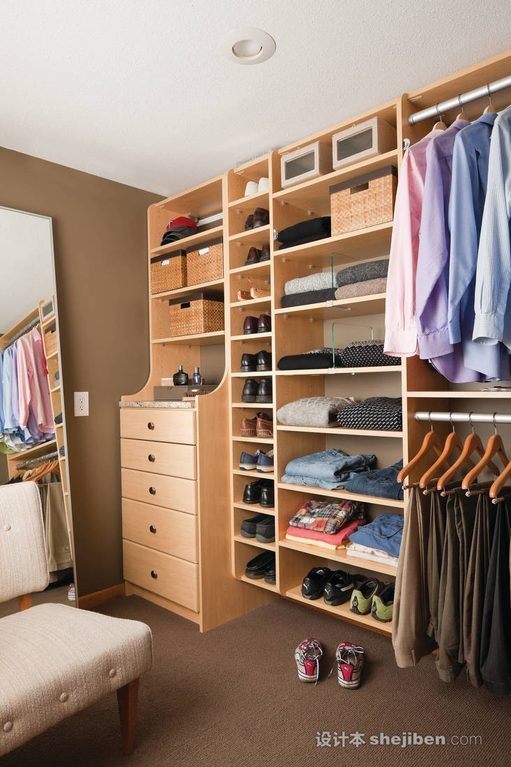 【家装】衣柜这么设计,好看又实用! 衣柜,这么,设计,好看,实用 第26张图片