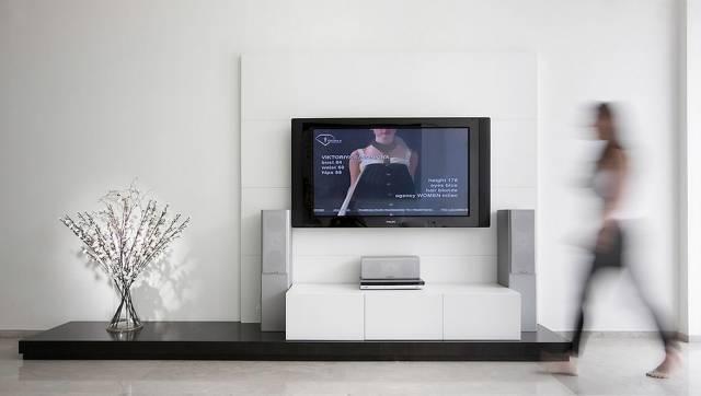 【家装日记】这些好看的背景墙 让你看电视都分心! 背景,电视,电视墙,隔板,简单 第1张图片