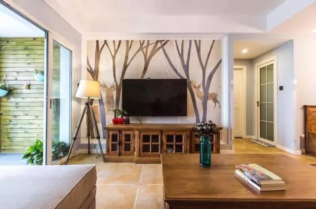 【家装日记】这些好看的背景墙 让你看电视都分心! 背景,电视,电视墙,隔板,简单 第19张图片