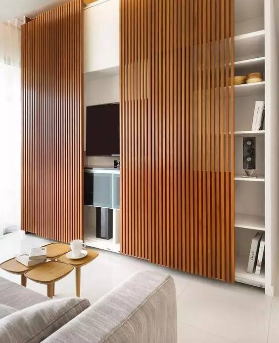 【家装日记】这些好看的背景墙 让你看电视都分心! 背景,电视,电视墙,隔板,简单 第35张图片