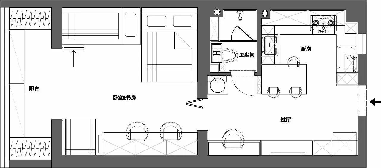 末那识设计| 跃层·多功能·小空间设计改造合集 末那识,设计,跃层,多功能,功能 第13张图片