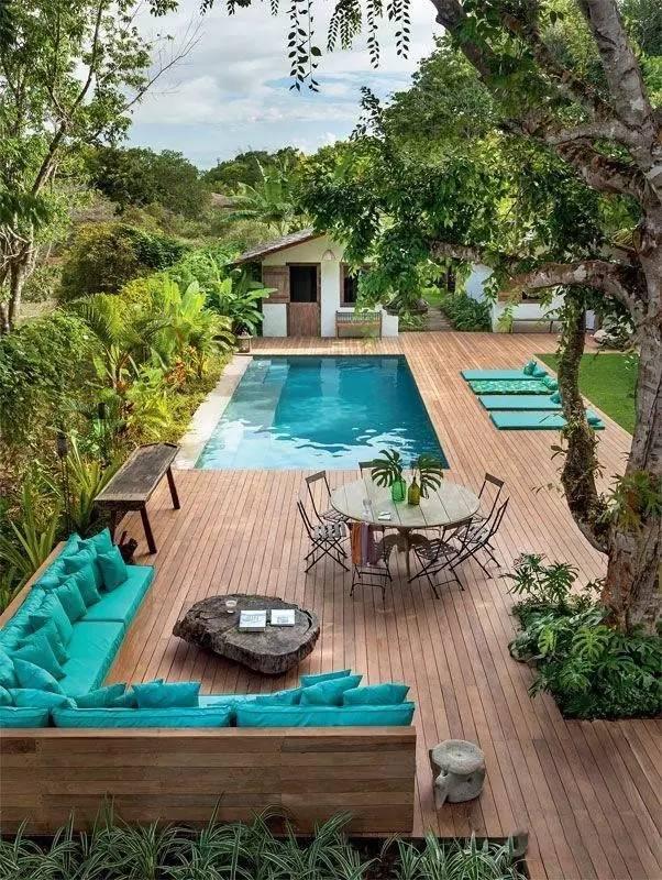 【家居装修】100个美美的院子,总有一款是你的菜! 舒适,时光,家居装修,院子,一款 第56张图片
