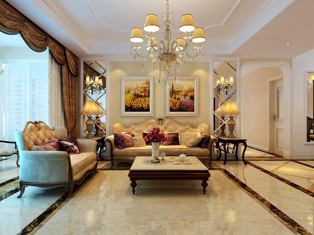 四室两厅户型简欧风格装修效果图 四室,两厅,户型,简欧风格,风格 第9张图片