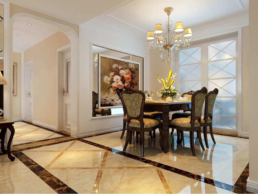 四室两厅户型简欧风格装修效果图 四室,两厅,户型,简欧风格,风格 第4张图片