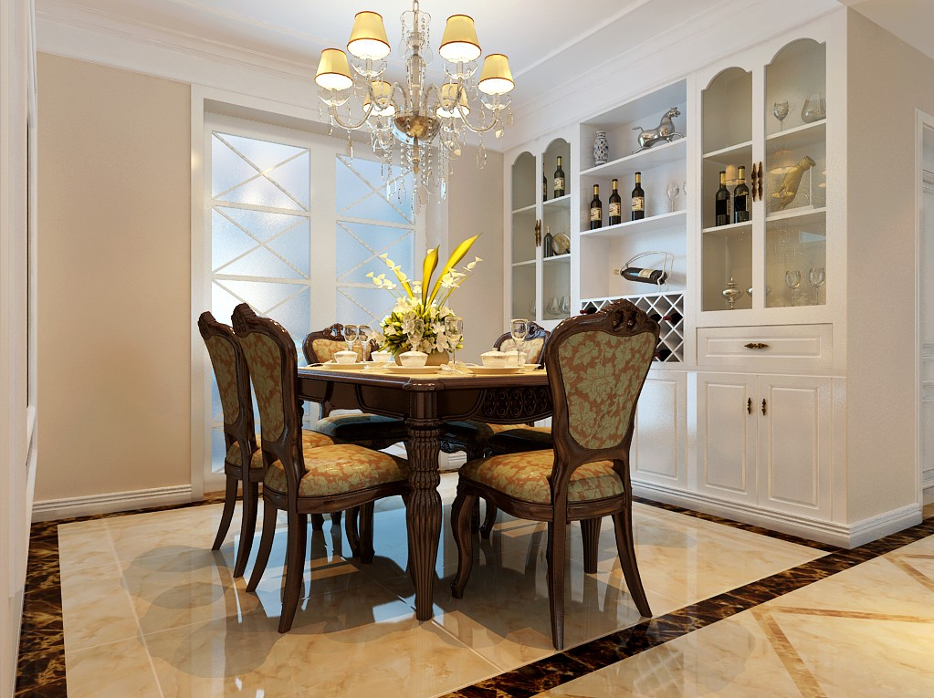 四室两厅户型简欧风格装修效果图 四室,两厅,户型,简欧风格,风格 第10张图片