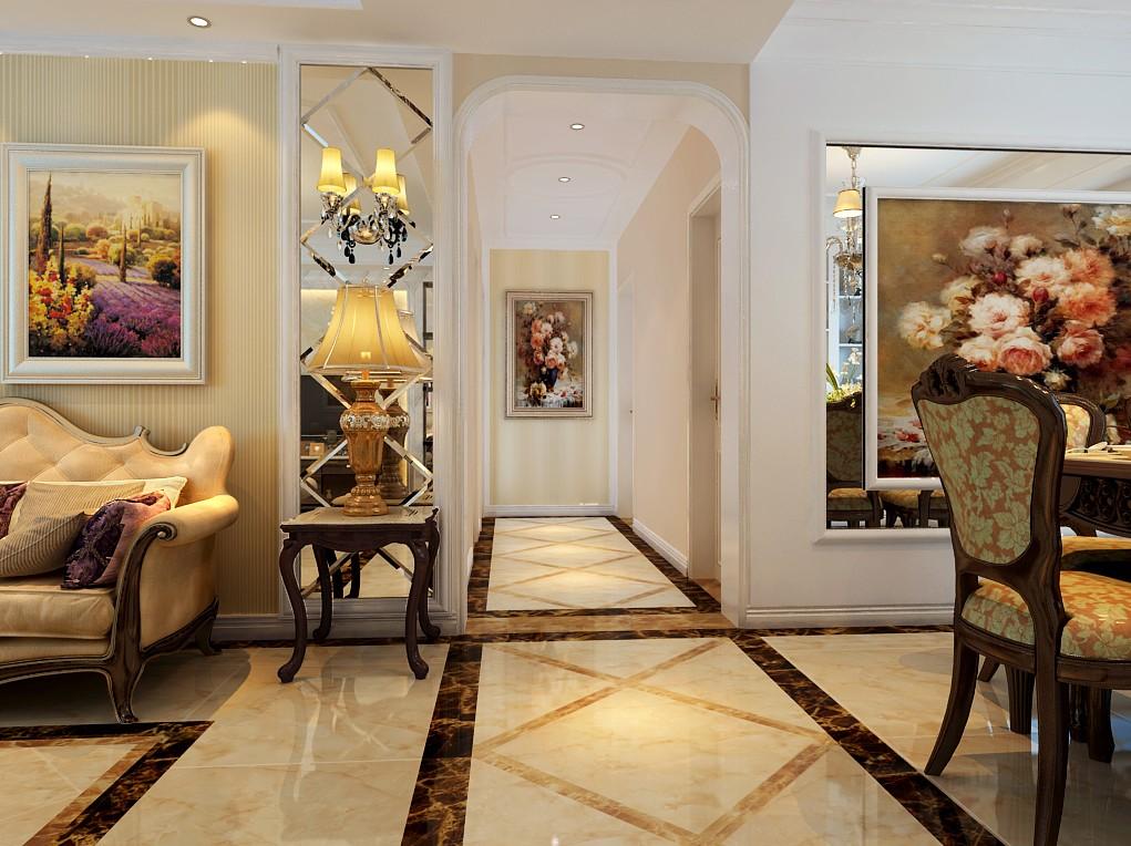 四室两厅户型简欧风格装修效果图 四室,两厅,户型,简欧风格,风格 第5张图片