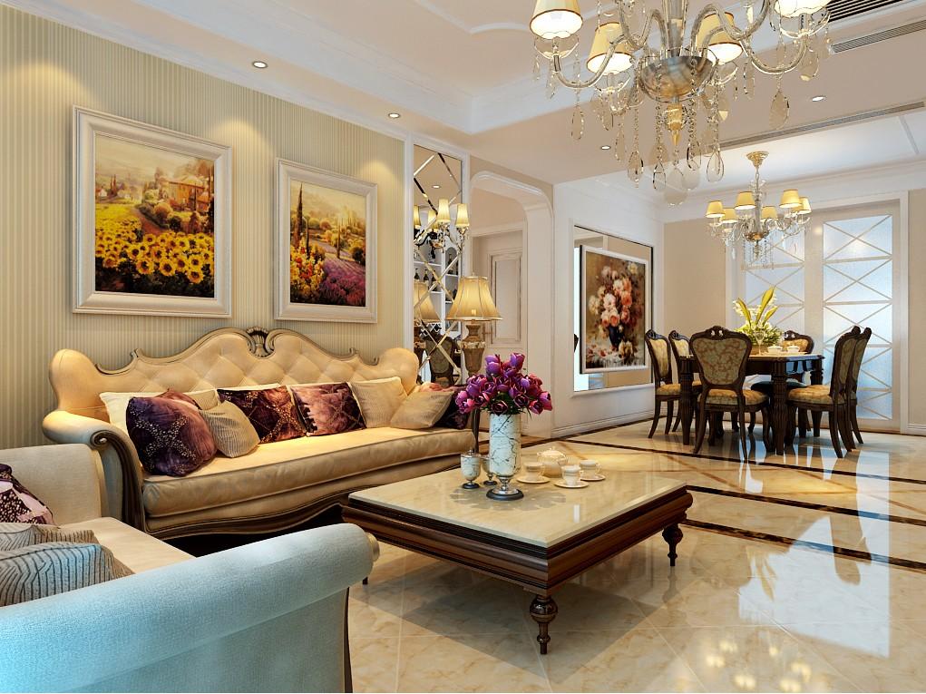 四室两厅户型简欧风格装修效果图 四室,两厅,户型,简欧风格,风格 第7张图片