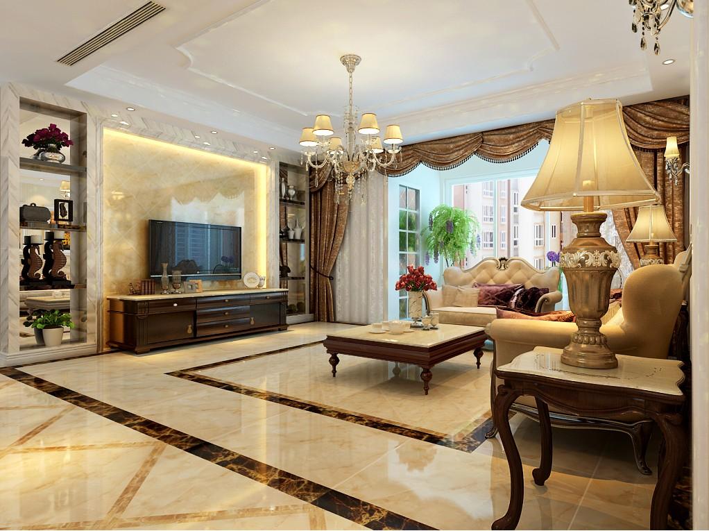四室两厅户型简欧风格装修效果图 四室,两厅,户型,简欧风格,风格 第1张图片