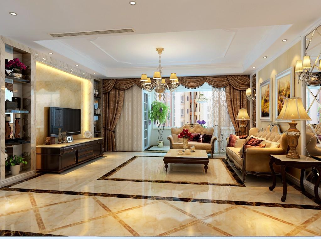 四室两厅户型简欧风格装修效果图 四室,两厅,户型,简欧风格,风格 第3张图片