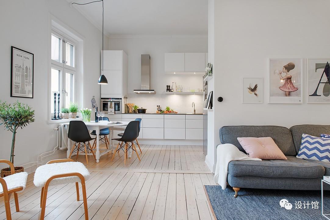 58㎡明快北欧公寓,一个人的生活也很美妙 阳光,大衣橱,一个人的生活,北欧,公寓 第7张图片