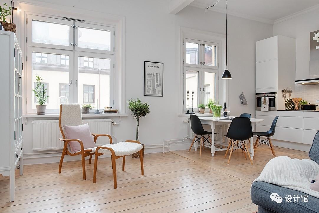 58㎡明快北欧公寓,一个人的生活也很美妙 阳光,大衣橱,一个人的生活,北欧,公寓 第11张图片