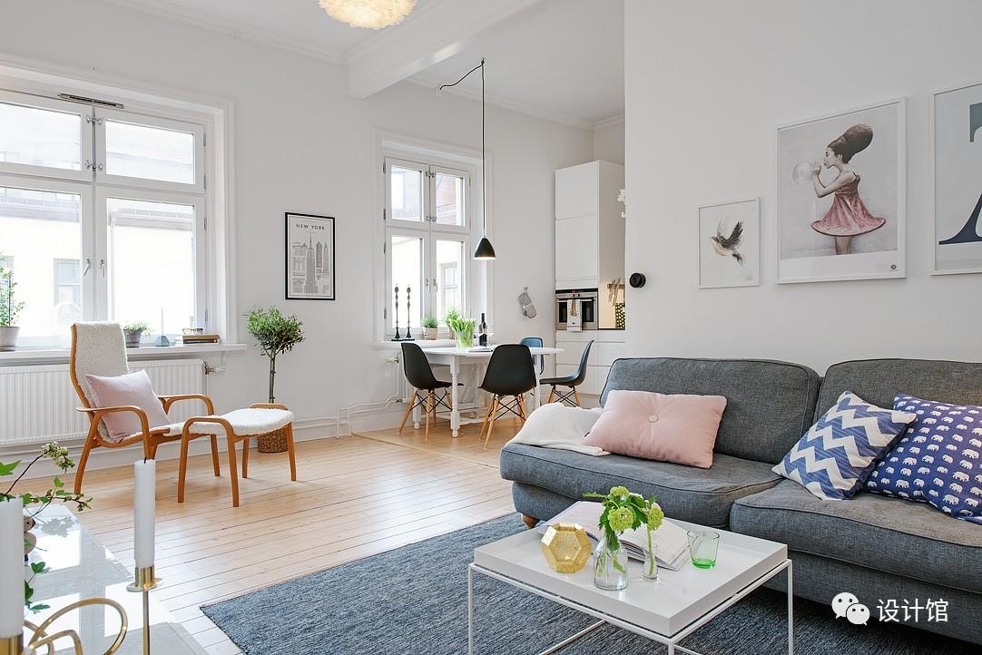 58㎡明快北欧公寓,一个人的生活也很美妙 阳光,大衣橱,一个人的生活,北欧,公寓 第8张图片