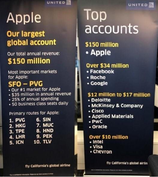 美联航:苹果每天购买50个从旧金山飞上海的公务舱 公务舱座位,美联航,苹果,每天,购买 第1张图片