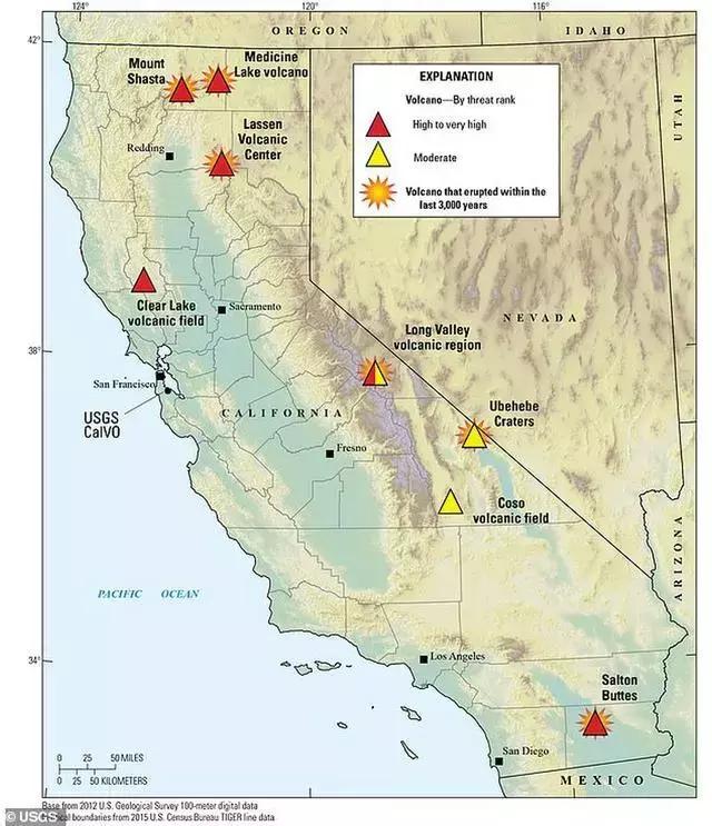 美国地质调查局报告令人担忧,加州7座活火山可能引发可怕大灾难 ... 沙斯塔火山,山体滑坡,热带风暴,美国,地质 第3张图片
