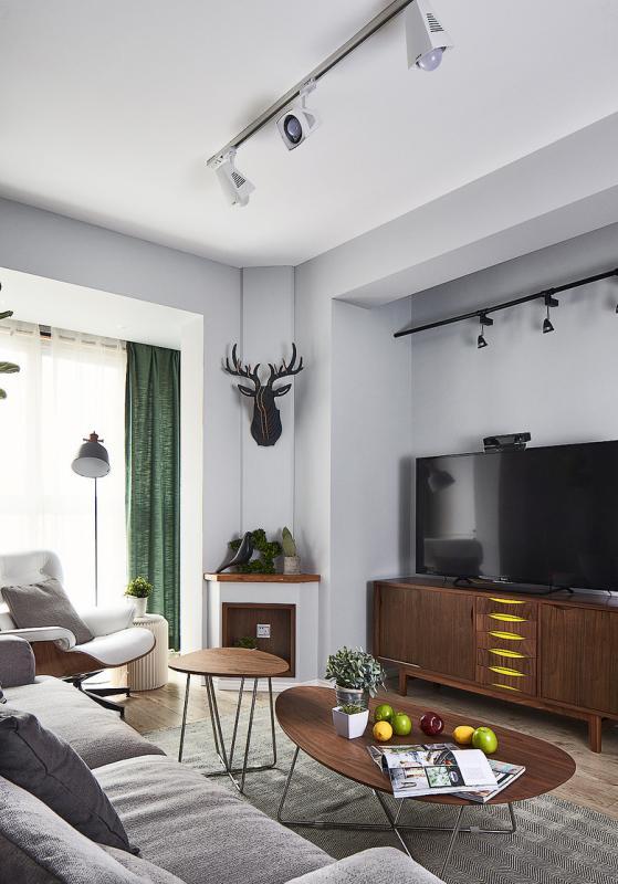 83平米的房子装修只花了8万,现代风格让人眼前一亮!-和谐家园装修 ... 现代风格,眼前一亮,装修,房子,房子装修 第2张图片