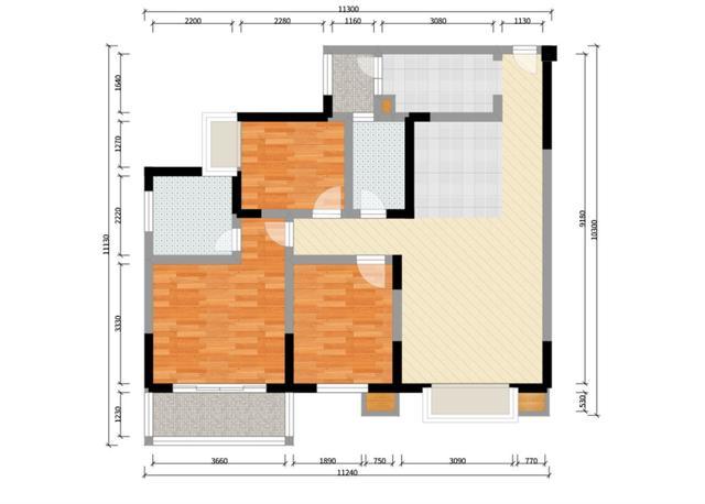 83平米的房子装修只花了8万,现代风格让人眼前一亮!-和谐家园装修 ... 现代风格,眼前一亮,装修,房子,房子装修 第10张图片