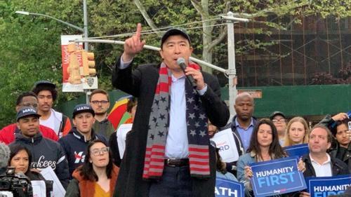 美媒:美国总统竞选华裔参选人杨安泽纽约造势 支持者聚集 美国,美国总统,总统,总统竞选,竞选 第1张图片