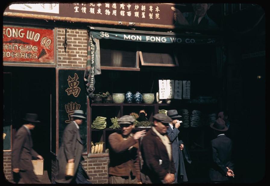 这是40年代初的美国纽约,这是二战时期的纽约 海外华人,唐人街,中国城,这是,年代 第7张图片