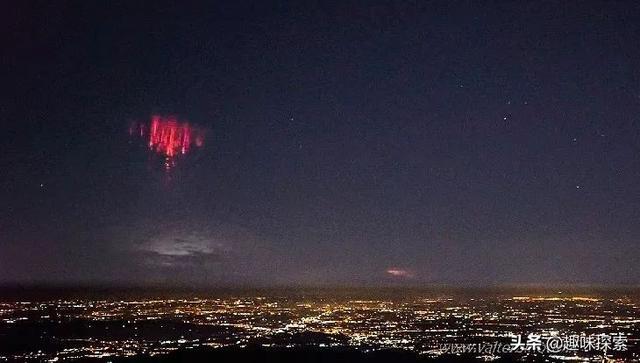 """意大利夜空现""""红色东西"""",比城市灯光要亮,其形成还在研究中 ... 雷雨云,红色东西,夜空,红色,东西 第1张图片"""