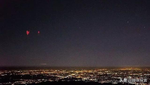 """意大利夜空现""""红色东西"""",比城市灯光要亮,其形成还在研究中 ... 雷雨云,红色东西,夜空,红色,东西 第2张图片"""