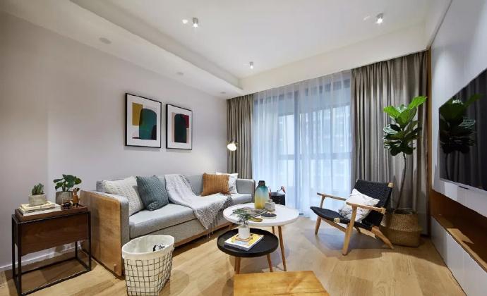 89㎡简约现代风格家居装修,自然木色总是能让空间变得休闲舒适 ... 舒适,家居装修,现代风格,自然,总是 第3张图片
