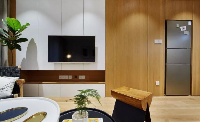 89㎡简约现代风格家居装修,自然木色总是能让空间变得休闲舒适 ... 舒适,家居装修,现代风格,自然,总是 第4张图片