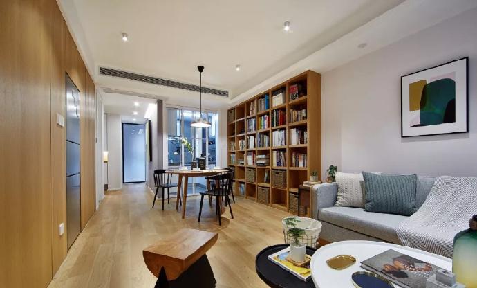 89㎡简约现代风格家居装修,自然木色总是能让空间变得休闲舒适 ... 舒适,家居装修,现代风格,自然,总是 第5张图片