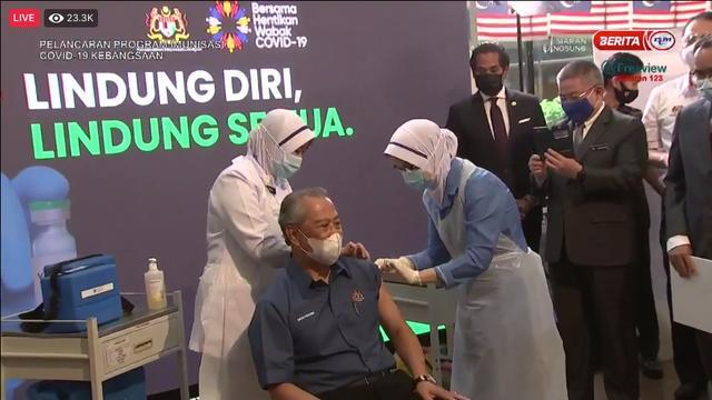 马来西亚总理今日接种新冠疫苗 为全马首位接种者