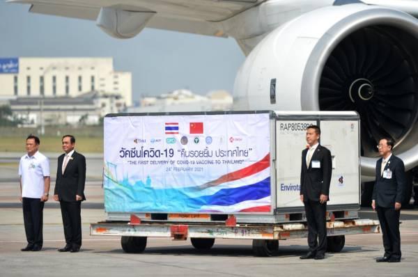 首批中国新冠疫苗运抵泰国 泰总理巴育亲自接机