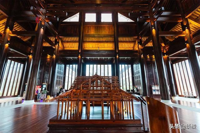 这家现代化酒店,1000平米的大堂,竟是榫卯结构,不用一根钉子 第6张图片