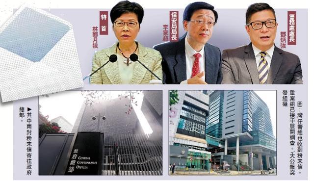猖狂!香港行政长官等三名港府高官收到白色粉末信,信件内容奇怪不明,两年8次作案,港警重案组追查不到?