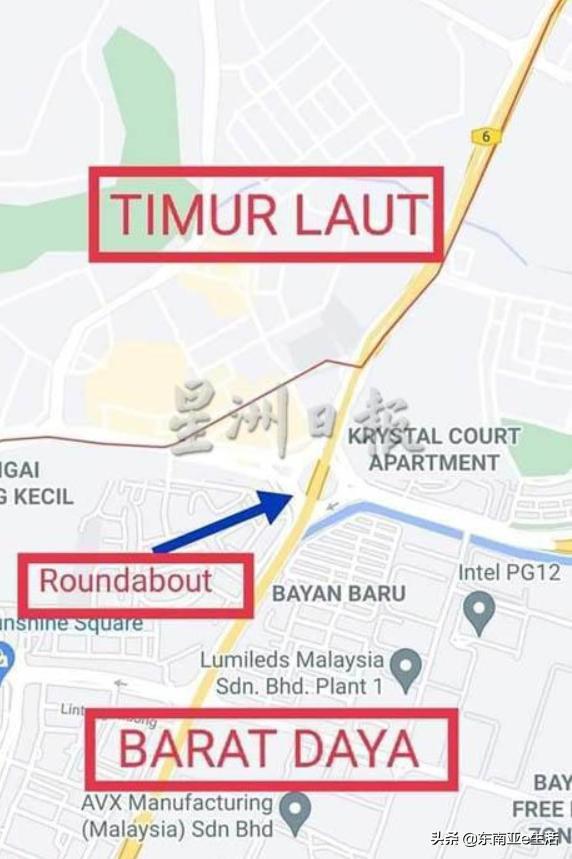 """一岛两县,马来西亚槟岛两县界限要分清,疫情期跨县要""""开罚单"""" 第4张图片"""