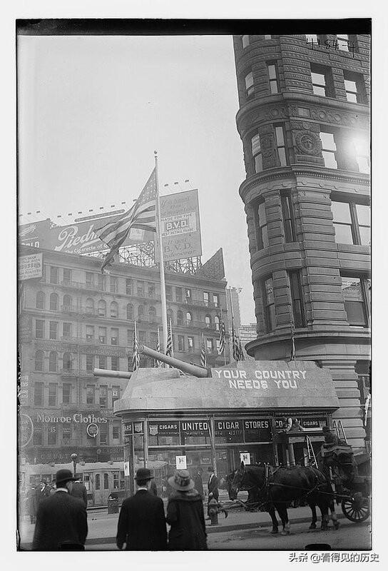 老照片 你的国家需要你 一战时美国纽约的招兵办公室