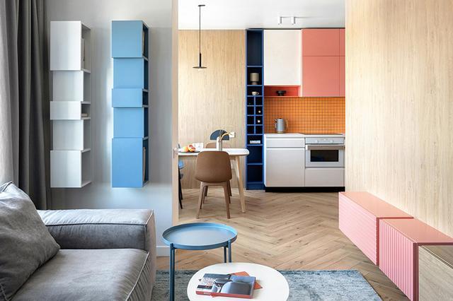 出色!明亮色彩家庭装修案例,欢畅、活跃、朝气勃勃,人见人爱 第1张图片