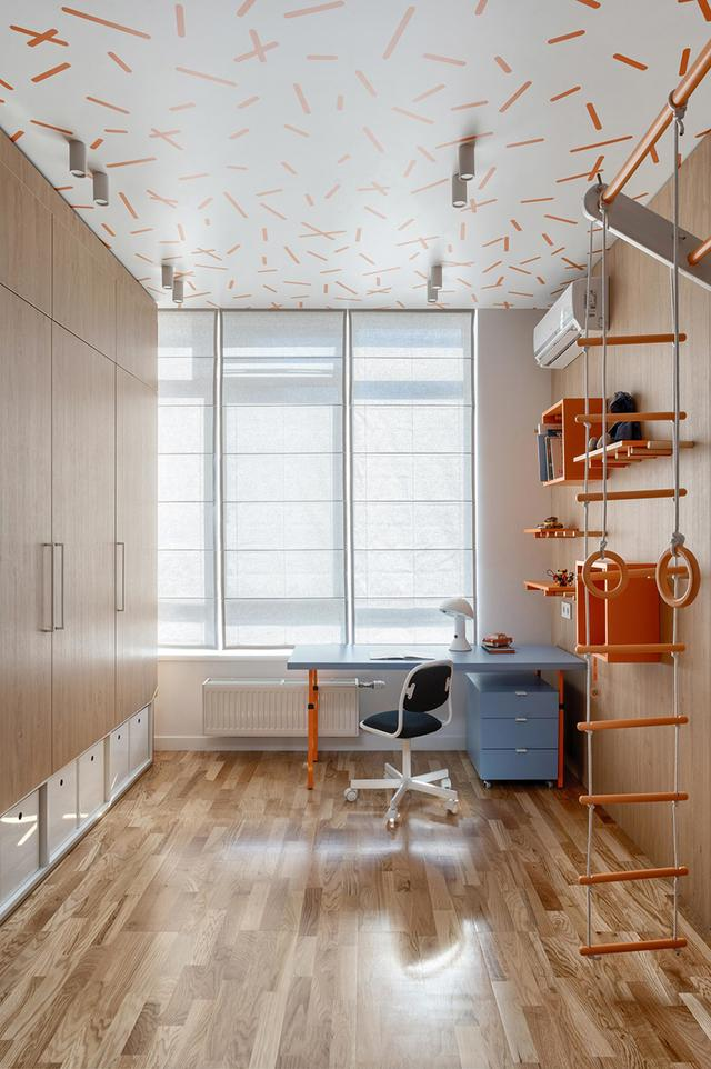 出色!明亮色彩家庭装修案例,欢畅、活跃、朝气勃勃,人见人爱 第3张图片