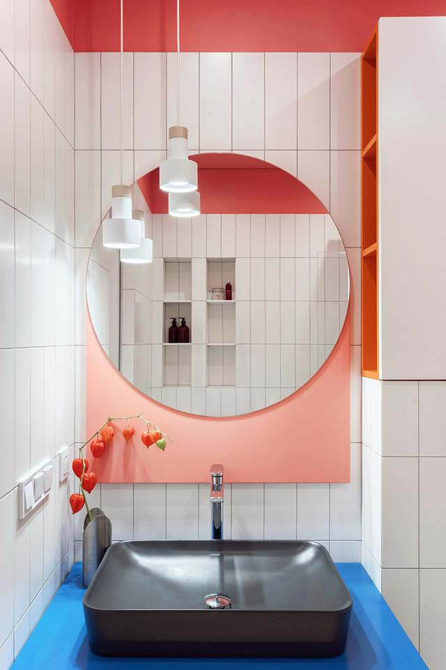 出色!明亮色彩家庭装修案例,欢畅、活跃、朝气勃勃,人见人爱 第4张图片