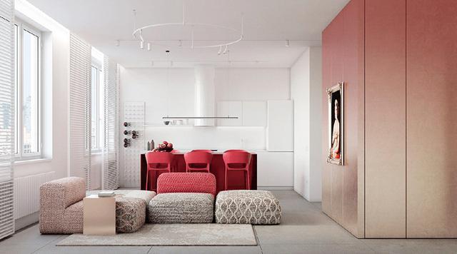 出色!明亮色彩家庭装修案例,欢畅、活跃、朝气勃勃,人见人爱 第9张图片