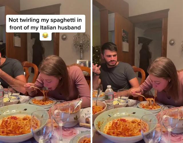 美国妹子天天恶作剧心灵懦弱的意大利男友,感受男友要解体啊 第11张图片