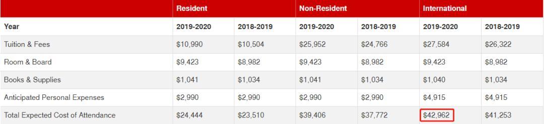 2020年国际生登科率超高的TOP11保底大学 第3张图片