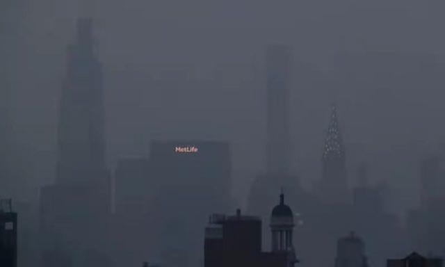 英媒:纽约玉成球空气质量最差城市!郊区遭山火烟雾覆盖 第1张图片
