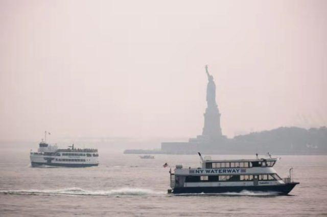 英媒:纽约玉成球空气质量最差城市!郊区遭山火烟雾覆盖 第2张图片