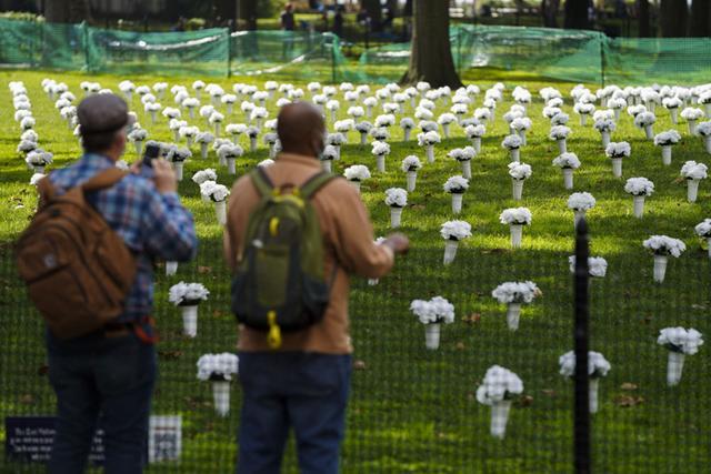 全球连线 丨 美国纽约:红色瓶花悼念枪枝暴力遇难者 第10张图片