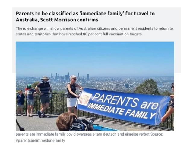 澳洲公民及永久居民11月1日起可离境 其直系亲属可返澳与家人团聚