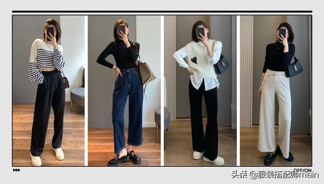 秋季女人穿阔腿裤,不要忽视这4点,不然不显高,还特别显胖
